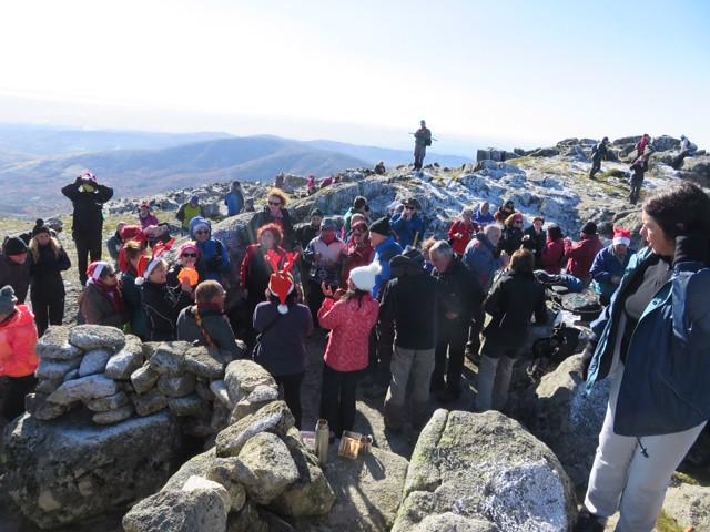 """Clausurada la temporada de rutas senderistas 2017 con la clásica """"Pico de Jálama-Puesta del Belén"""""""
