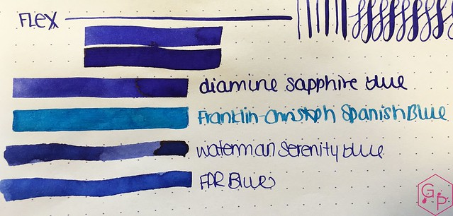 Ink Shot Review Diamine Sapphire Blue @BureauDirect 4