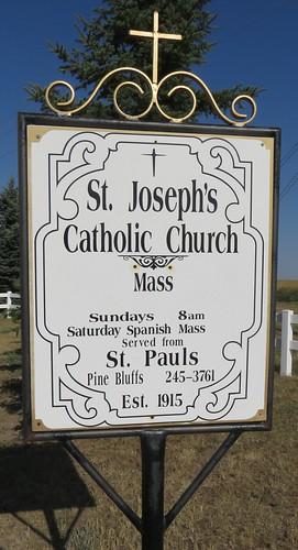 Saint Joseph's Catholic Church Sign (Albin, Wyoming)