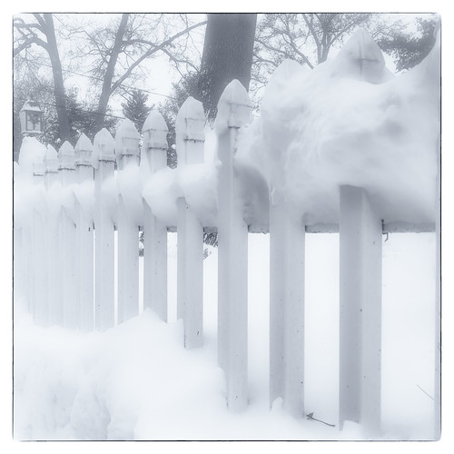 blackandwhite hipstamatic friday home fence snow eastbridgewater massachusetts unitedstates us
