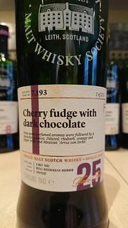 SMWS 7.193 - Cherry fudge with dark chocolate