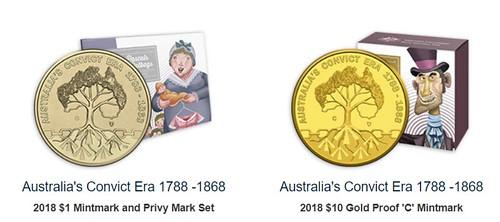 Australia's Convict Era coins