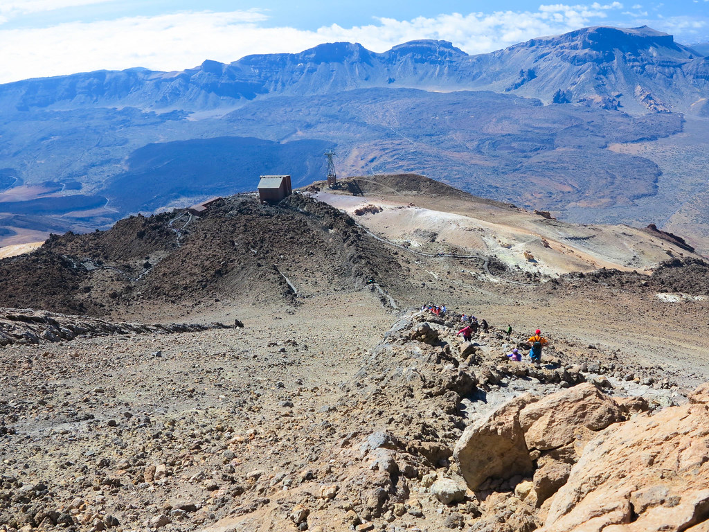 Trail to top of Teide