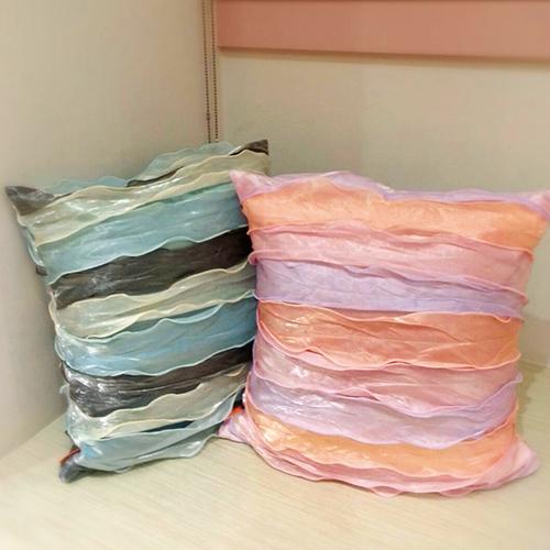 夕照 雲海 抱枕套 荷葉邊 半遮光窗簾布 禮服服裝裝飾布料 DA5390002