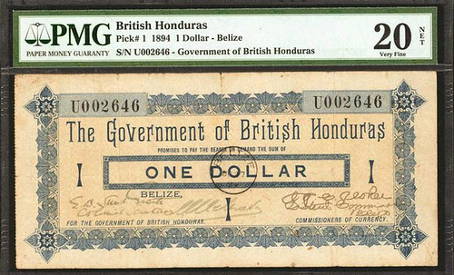 British Honduras 1 dollar