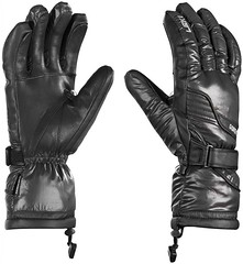 Lyžařské rukavice Leki Mighty S black - titulní fotka