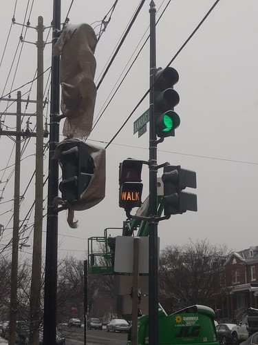 Remaining Walk/Don't Walk Signal using words, southeast intersection of Kansas and Missouri Avenues NW