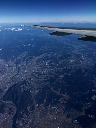 左上の川は、木曽川、美濃加茂市