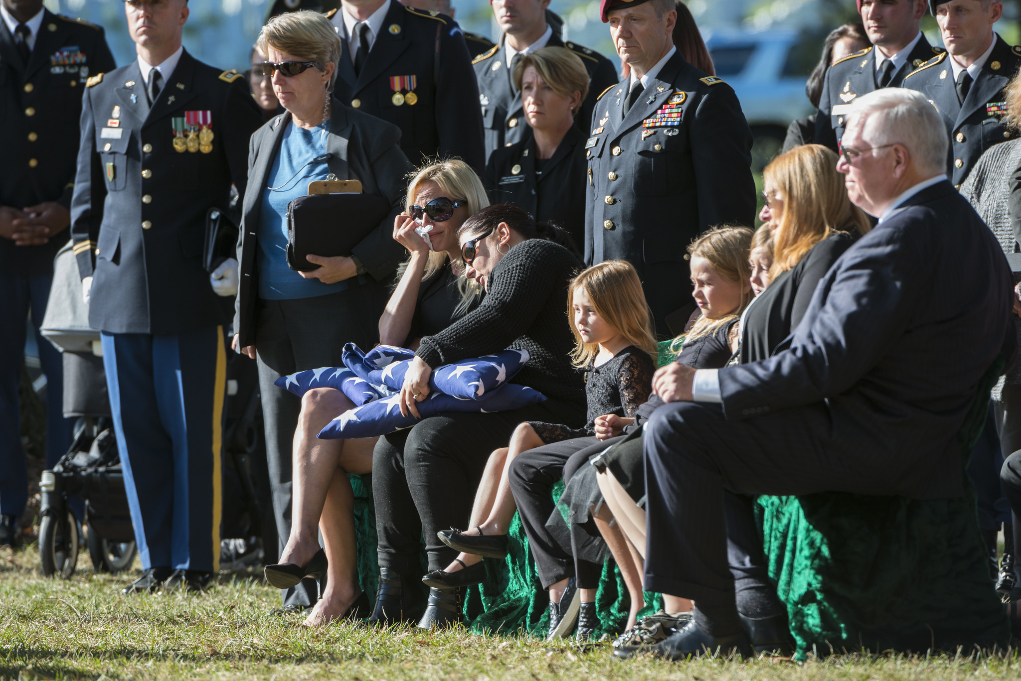 Graveside Service for U.S. Army Staff Sgt. Alexander Dalida in Section 60 of Arlington National Cemetery