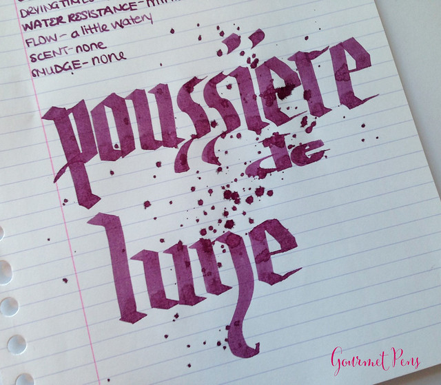 Ink Shot Review J. Herbin Poussière de Lune @KnightsWritingC 7