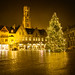 Drizzly nighttime walk around Bruges by Dave Smith