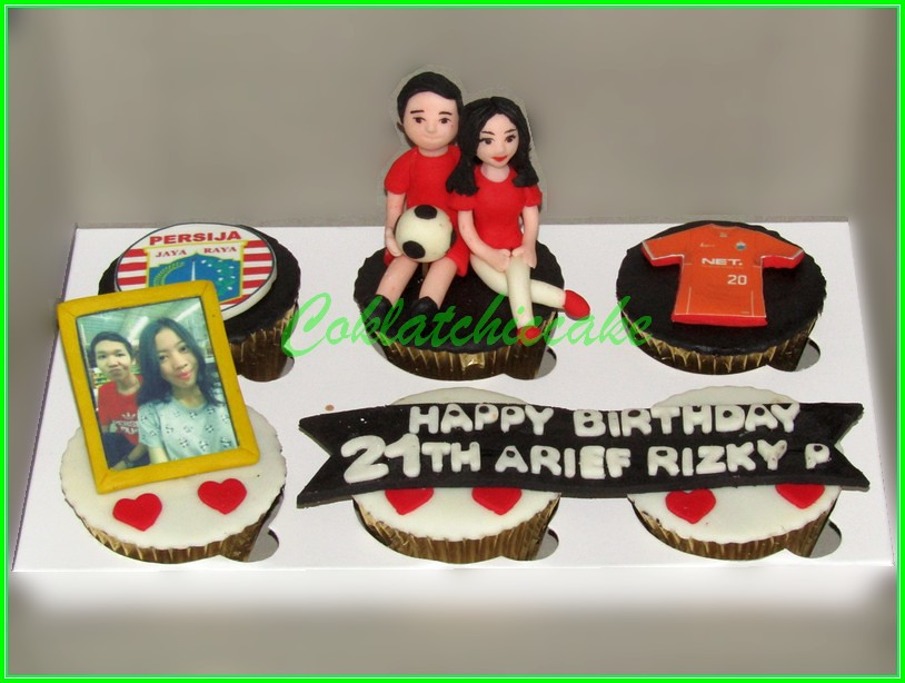 Cupcake set Couple Persija