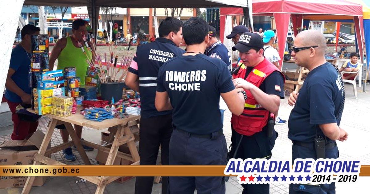 Feria de la pirotecnia dejó decomisos según bomberos chonenses