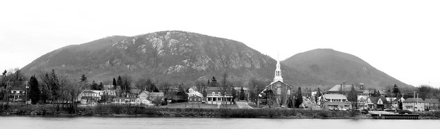 Mont-St-Hilaire, Qc in Black and White