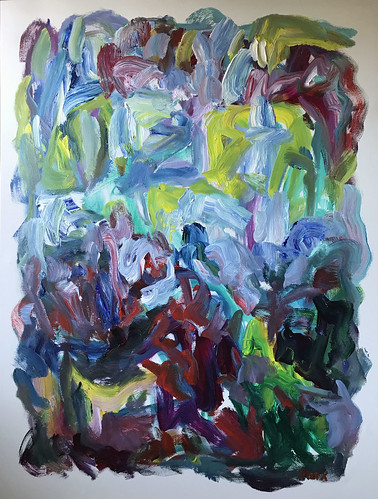 Susan Marx, 2017, Garden Under the Sea, 48x36, acrylic on canvas