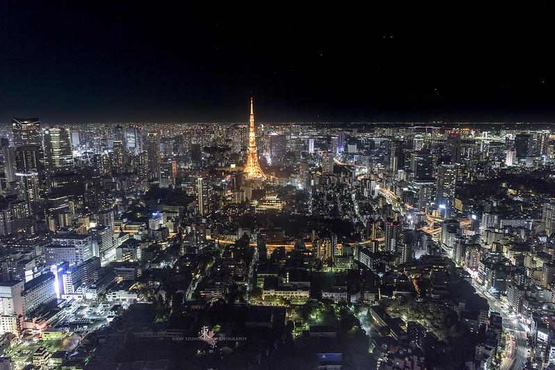 六本木大樓上的東京夜景