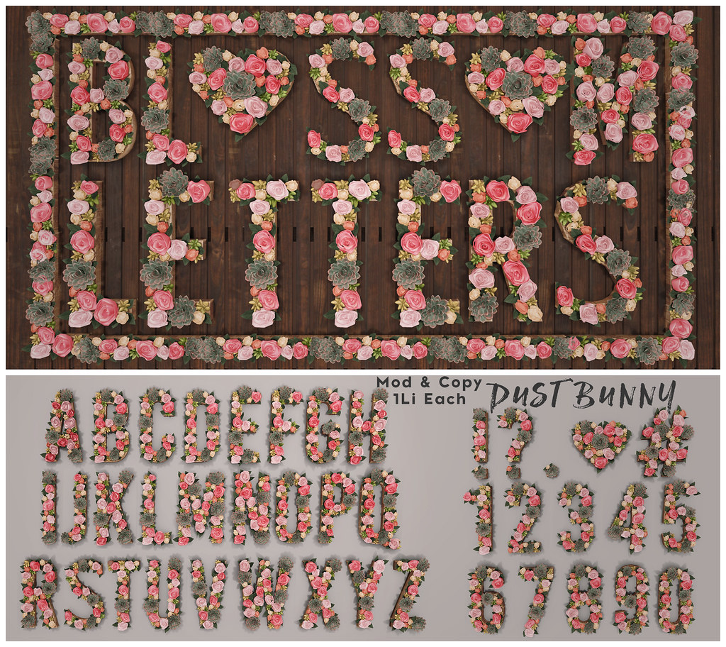 blossom letters @ c88