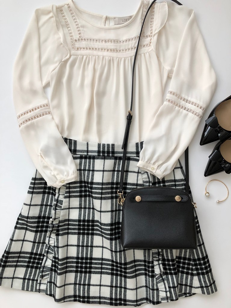 Styling a Plaid Skirt - Outfit 2