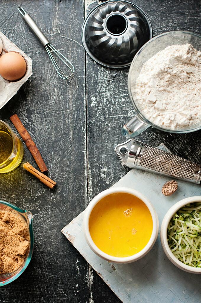 Day 226/365 - Making on Zucchini Cake