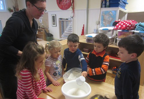 scooping in the flour