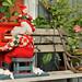 Santa Claus on piano.