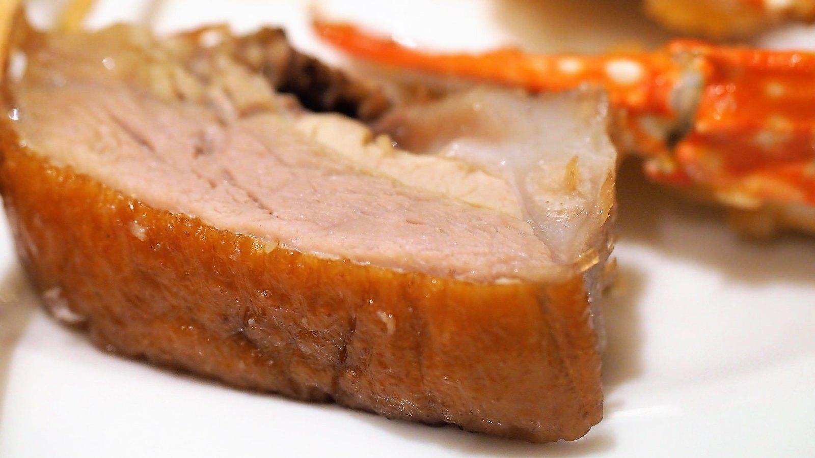 Juicy piece of roasted duck
