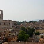 Perugia (Italia). Vista desde el Viale Independenza