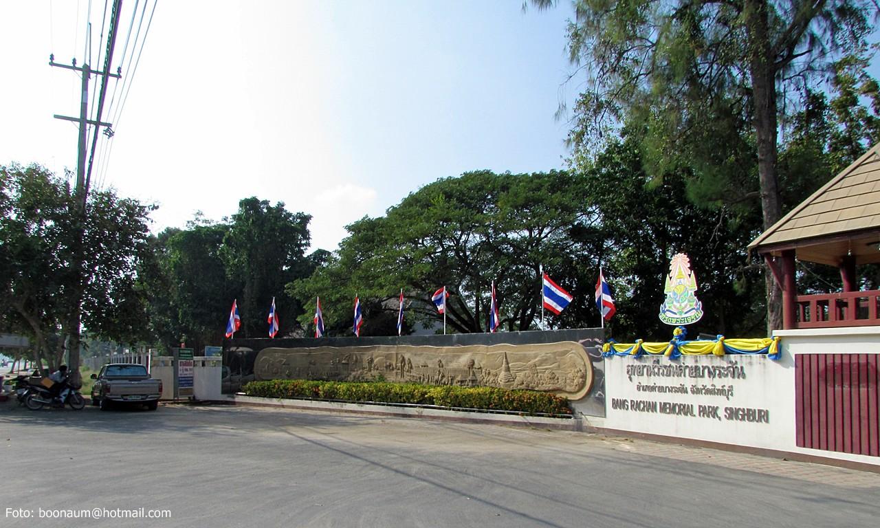 Entrance to Bang Rachan Memorial Park in Sing Buri Province. Photo taken on December 11, 2010.