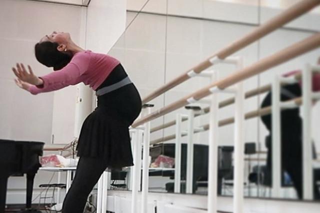 Tara-Brigitte Bhavnani at the barre. Photo: Instagram/@tarabhavs