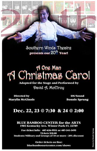 "Celebrating the 20th Anniversary of a One-Man ""A Christmas Carol"""