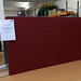 Wine fabric floor standing screen 1630l 1800h E100