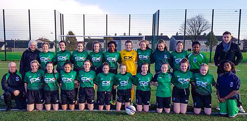 St Louis Dundalk Soccer team pictured with Triona McGinty SSL (back row, left)