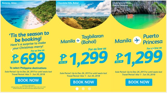 Cebu Pacific Air Promo Merry Christmas 2017