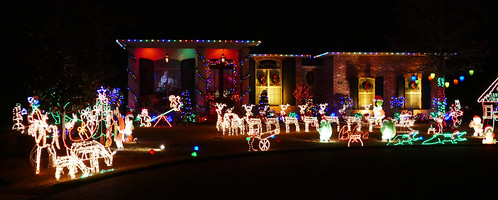 Sparkling Christmas lights in our neighborhood - Explore!
