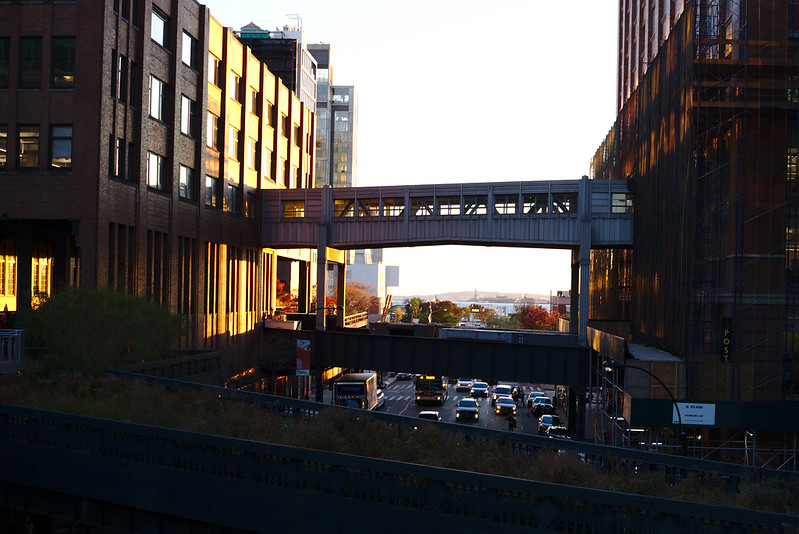 Last sun on the High Line