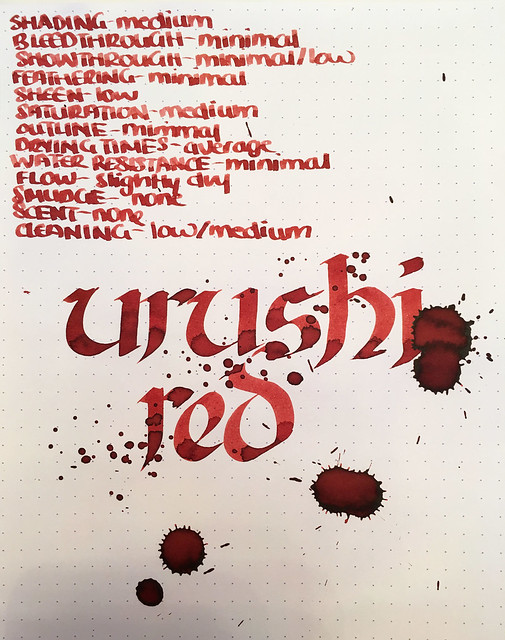 Ink Shot Review Franklin-Christoph Urushi Red @1901FC 7