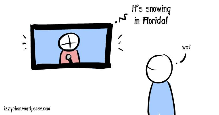its snowing in florida