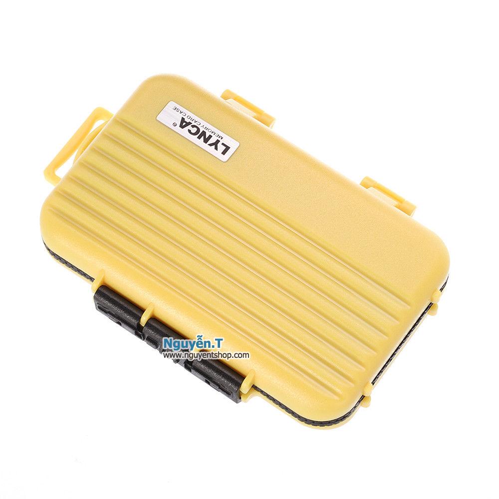 Hộp thẻ nhớ LYNCA KH6 chống nước 4CF +  8SD + 12micro SD_Nikon yellow