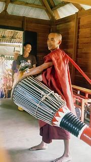 Monk Drummer smiling