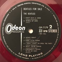 THE BEATLES:BEATLES FOR SALE(LABEL SIDE-B)