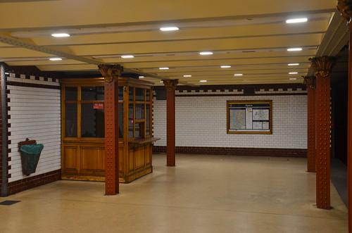Restaurierter Bahnhof der Millenium Bahn