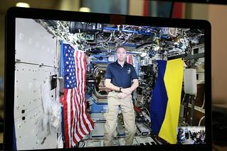 Рік у фото 2017 - Американський астронавт Ренді Бреснік відповів на питання українців в режимі реального часу із Міжнародної космічної станції, жовтень 2017 р.