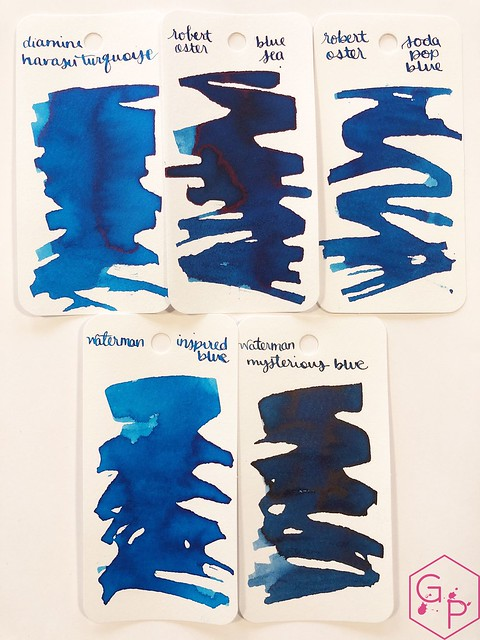 Ink Shot Review @RobertOsterInk Soda Pop Blue @PhidonPens 3