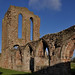 Croxden, Staffordshire, abbey ruins, nave, south & west walls, detail