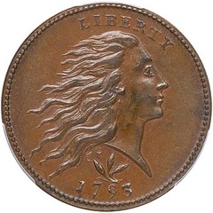 1793 Wreath cent obverse