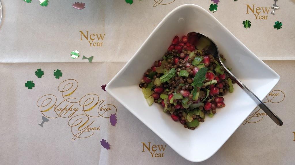 Linsensalat mit Granatapfel