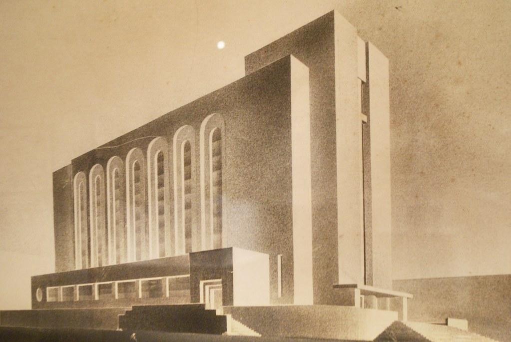 Projet de construction d'une église (?) - Expo sur le modernisme à Lwow au MCK à Cracovie.