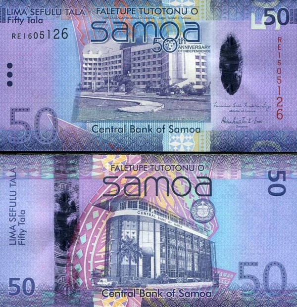 50 Tala Samoa 2012, P44 UNC polymer-hybrid