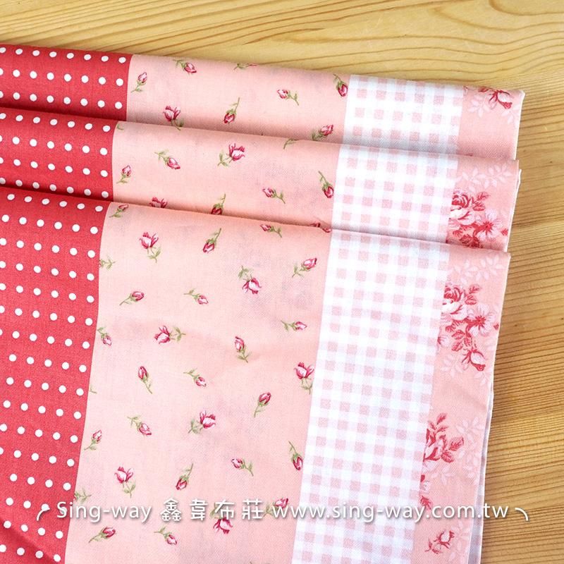 溫韾玫瑰 法式優雅花卉 柔美薔薇 鄉村風 精梳棉床品床單布料 CA450104