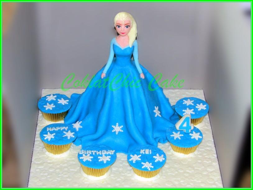 cake & cupcakes Disney Frozen Elsa - KEI 15 cm